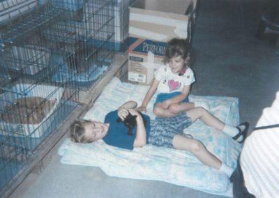 1995 - Kids Adopting Elvis the Kitten From the Garage