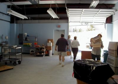 1999 - Moving Day first shelter October 1999