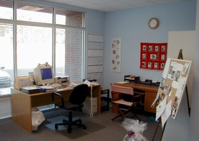 1999 - First office in new shelter