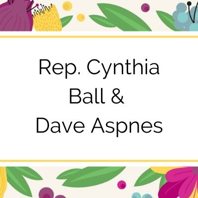 2020 Tuxedo Cat Ball Sustaining Sponsors Rep. Cynthia Ball and Dave Aspnes